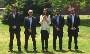 Vidal presentó su gabinete en Lanús.
