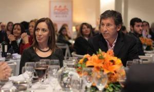 Vidal y Posse en la cena realizada en el salón azul de los Bomberos Voluntarios de San Isidro. Foto: Urgente 24