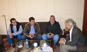 Pascual recibió a concejales de Pellegrini. Foto: Distrito Interior