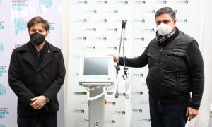 Kicillof entregó respiradores en el distrito de Jorge Macri