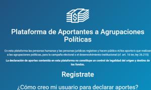 Aportes de Campaña: Plataforma web para declararlos ante la Justicia y consultarlos