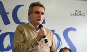 Rossi estuvo de recorrida por la Cuarta Sección Electoral.