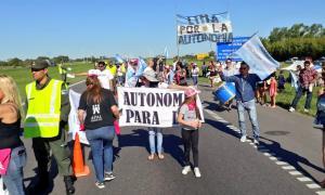 Protesta en Ruta 9 en el regreso del fin de semana largo.