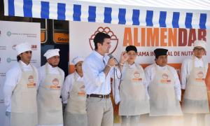 Urtubey anunció refuerzo presupuestario para los planes alimentarios de los municipios de Salta. Foto: Prensa