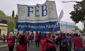 El FUDB se movilizaba a La Plata con otros gremios. Foto: LaNoticia1