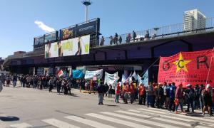 Corte total en Puente Saavedra. Foto: Matías Suárez