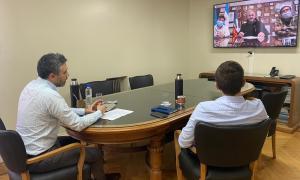 El director ejecutivo de ARBA, Cristian Girard, firmó convenios de colaboración con el intendente Mario Secco de Ensenada y Walter Torchio de Carlos Casares.