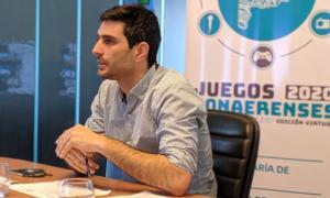 Corradini, director Provincial de Torneos y Eventos Deportivos. Foto: Prensa PBA.