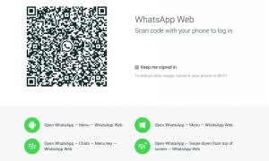 El logueo al mensajero web es a través de un código QR.