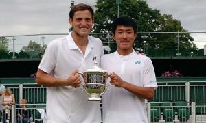 Geller y Yu Hsiou Hsu campeones. Foto: AFP