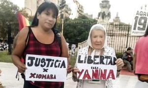 Yanina recibió el apoyo de un sinfín de organizaciones sociales y de Derechos Humanos (@nqpb)