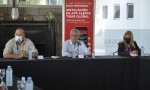 Sergio Berni junto a Julio Zamora