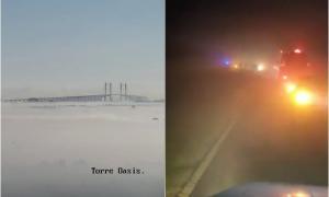 Por humo y niebla estuvo cortado el tránsito en Zárate - Brazo Largo: Hubo un choque múltiple