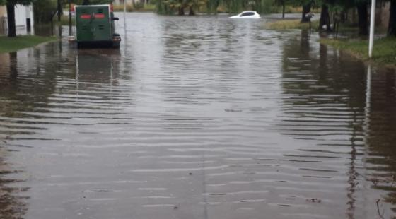 En la ciudad cayeron más de 100 milímetros de agua. Foto: DIB