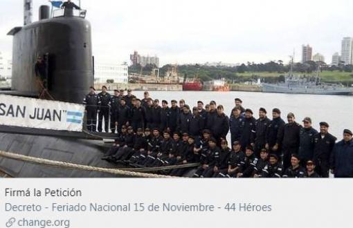 ARA San Juan: Piden que se declare feriado el 15 de noviembre
