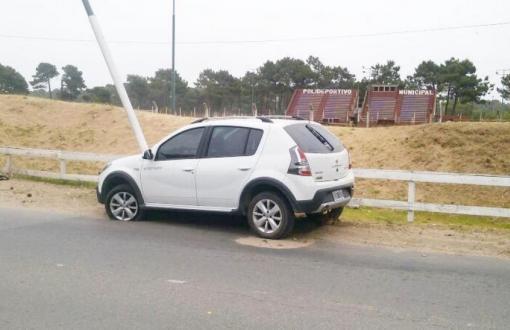 El robo fue en Villa Gesell pero la persecución llegó hasta la zona del Polideportivo municipal de Pinamar. Foto: Diario El Mensajero.