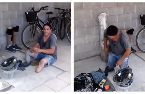 Sergio tiene 36 años y trabaja como albañil en Pilar.