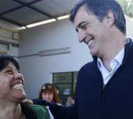 """Bullrich retomó su campaña en la Tercera Sección: """"Los vecinos ven el avance de las obras""""."""