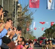 Massa, en la celebración del aniversario Nº 45 de los Bomberos Voluntarios de General Pacheco.