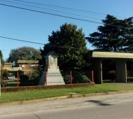 La  Casa del Encuentro y Retiro Ceferino Namuncurá de Olmos donde se realizó el robo.