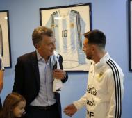 """""""Tenemos un gran equipo, grandes jugadores y al mejor del mundo"""", dijo Macri."""