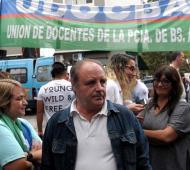 """""""Hoy ir a trabajar a las escuelas es un riesgo"""", dijo Miguel Díaz."""
