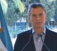 Macri realiza el anuncio este miércoles desde Olivos.