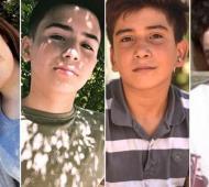 """Los 4 jóvenes asesinados por la policía en la """"Masacre de Monte"""" hace casi un año."""