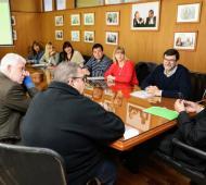 Ferraresi firmó el acuerdo con los gremios.
