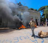 Imagen del incidente en San Vicente por el que se desató la polémica.