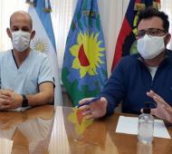 """""""Las personas que viajaron lo hicieron porque tenían permiso"""", dijo Aiola en alusión al primer infectado en Chacabuco."""
