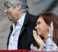 Moyano y Cristina podrían compartir acto el 17 de octubre.