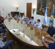 Imagen de la reunión de los representantes de los 3 distritos.