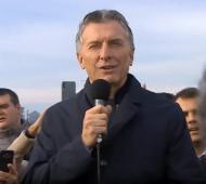 Macri realiza actividad en Pergamino este viernes por la tarde.