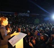 Kicillof continúa con sus recorridas de campaña.