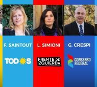 Todos los candidatos confirmaron asistencia menos Saintout.