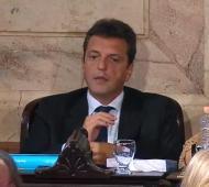 Massa durante el discurso de Cristina en el Congreso.
