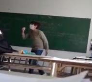 Captura del video viral que dejó expuesta a la docente.