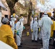 Se dispararon los contagios en La Plata.