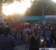Asamblea en la Universidad de General Sarmiento por lo sucedido con la joven militante.
