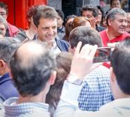 Massa recorre la Provincia para apuntalar su candidatura presidencial.
