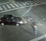 Captura del video en el momento del impacto.