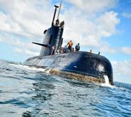 El ARA San Juan trasporta 44 personas a bordo. Foto: Prensa