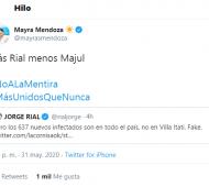"""Buscan caos"", señaló Mayra Mendoza."