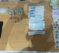 El material secuestrado por la policía.