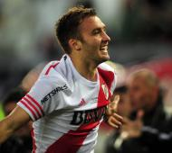 Pezzella celebra el gol del empate de River ante Boca.