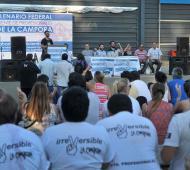 La Cámpora realizó un acto en Sarandí.