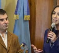 La mandataria y el intendente de Azul recorrieron obras del Municipio. Foto: El Tiempo