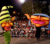 Los carnavales en distintos puntos de la Provincia.