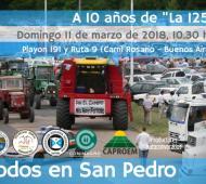A 10 años del conflicto por la 125, Sociedades rurales de San Pedro y Baradero recordarán aquel hecho